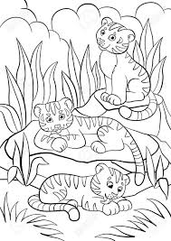 Tigres para colorear 9
