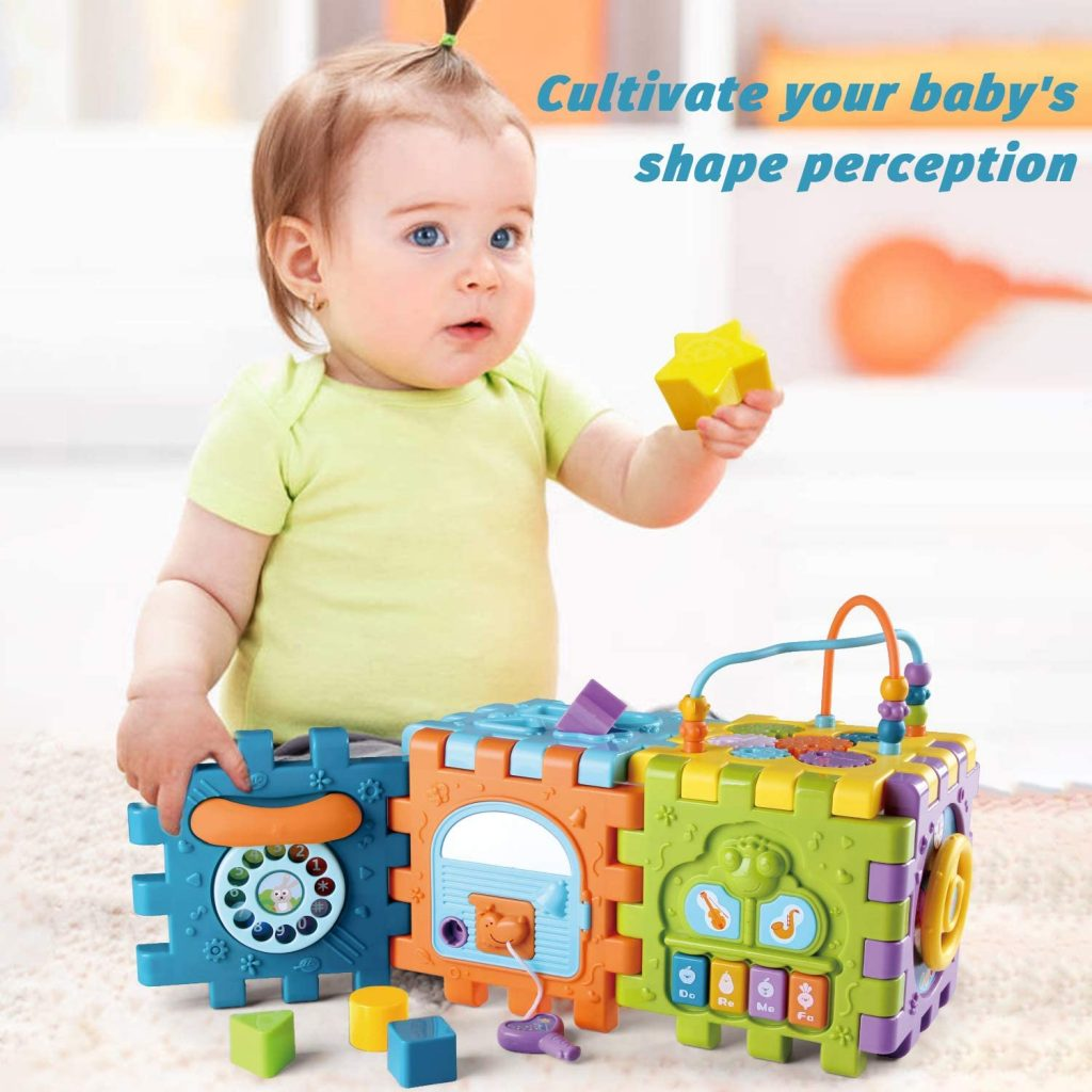 Juguetes para Bebé 6-18 meses Juguete Cubo de Actividades para Bebé