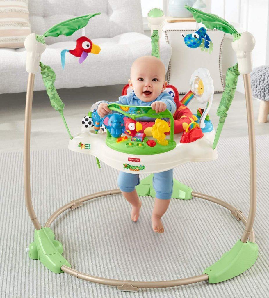 Fisher-Price Saltador Animalito de la Selva con luces y sonidos para bebé